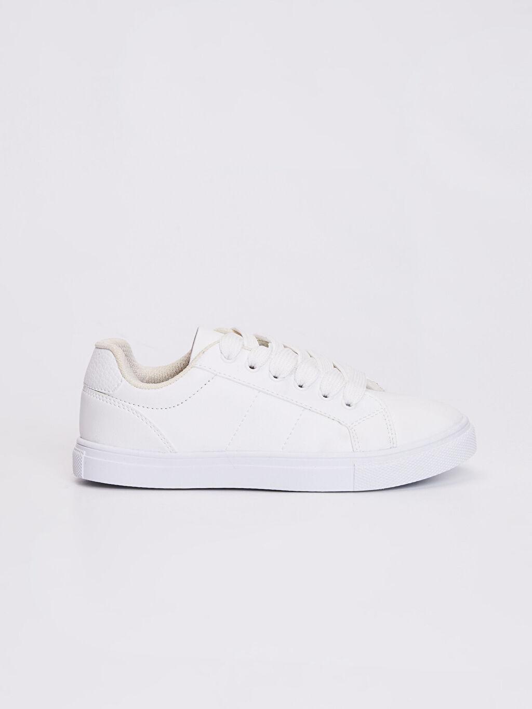 Beyaz Erkek Çocuk 31-38 Numara Sneaker 0S7199Z4 LC Waikiki