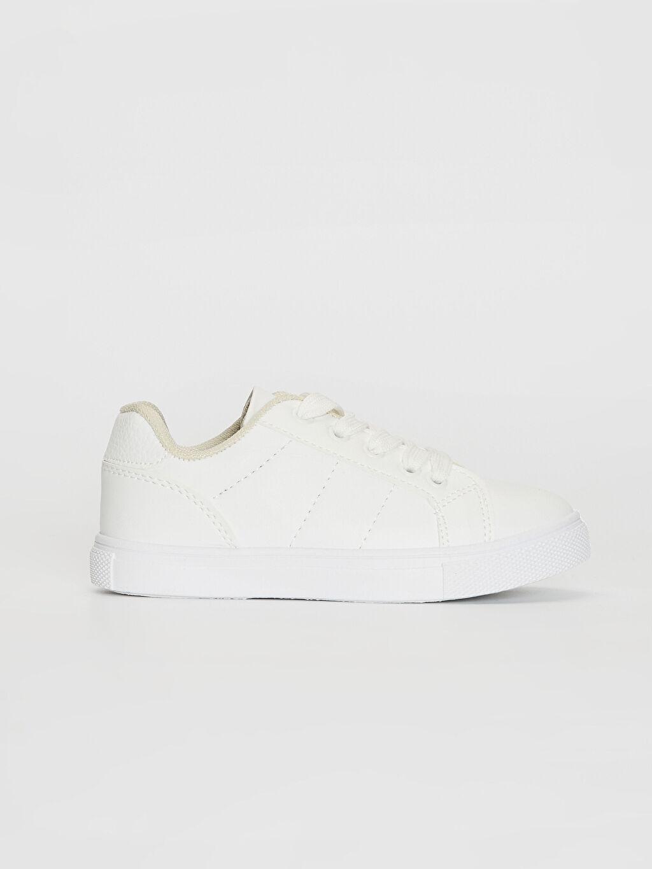 Beyaz Erkek Çocuk 25-30 Numara Sneaker 0S7200Z4 LC Waikiki