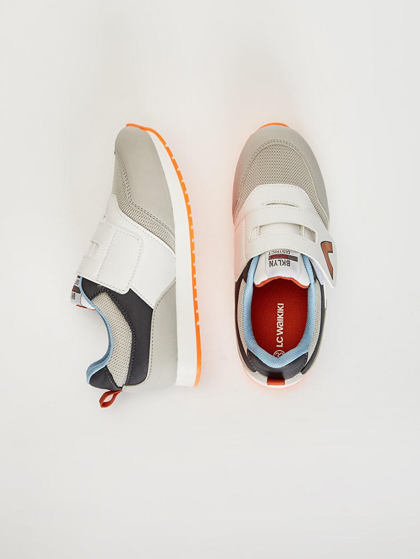%0 Diğer malzeme (pvc) %0 Tekstil malzemeleri ( %100 polyester)  Erkek Çocuk Cırt Cırtlı Günlük Spor Ayakkabı