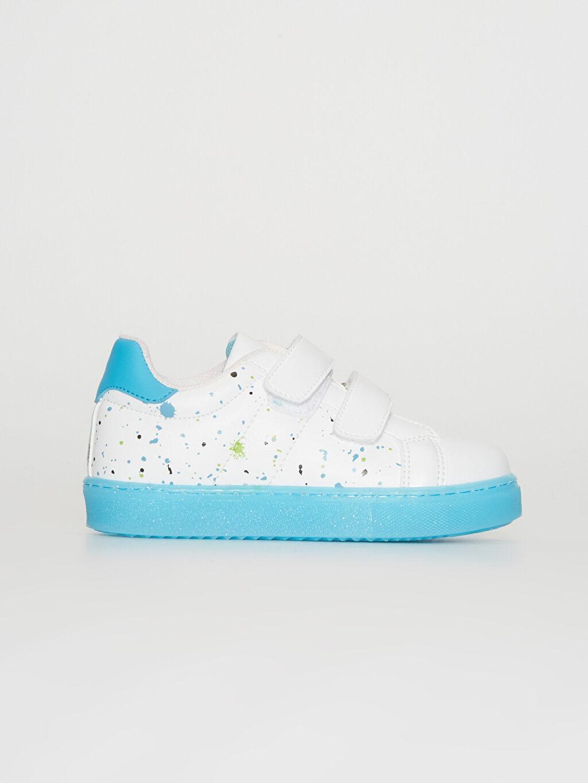 Beyaz Erkek Çocuk Cırt Cırtlı Günlük Spor Ayakkabı 0S7209Z4 LC Waikiki