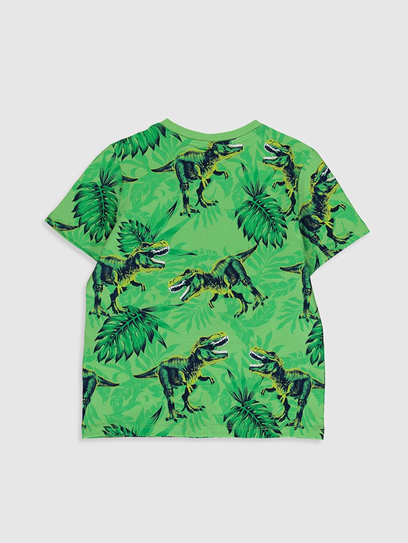 %100 Pamuk Normal Bisiklet Yaka Baskılı Tişört Kısa Kol Erkek Çocuk Baskılı Pamuklu Tişört