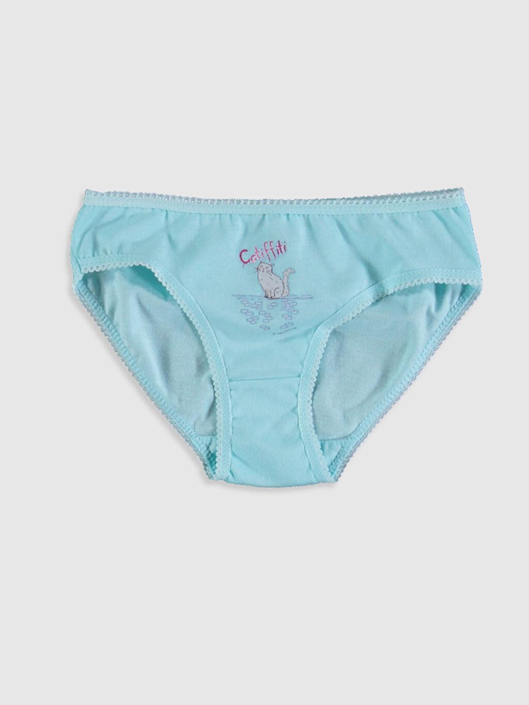 %100 Pamuk Standart İç Giyim Alt Kız Çocuk Pamuklu Külot 4'lü
