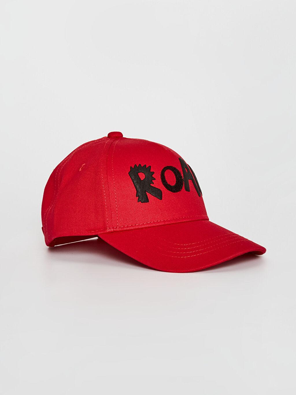 Kırmızı Erkek Çocuk Baskı Detaylı Şapka 0S7651Z4 LC Waikiki
