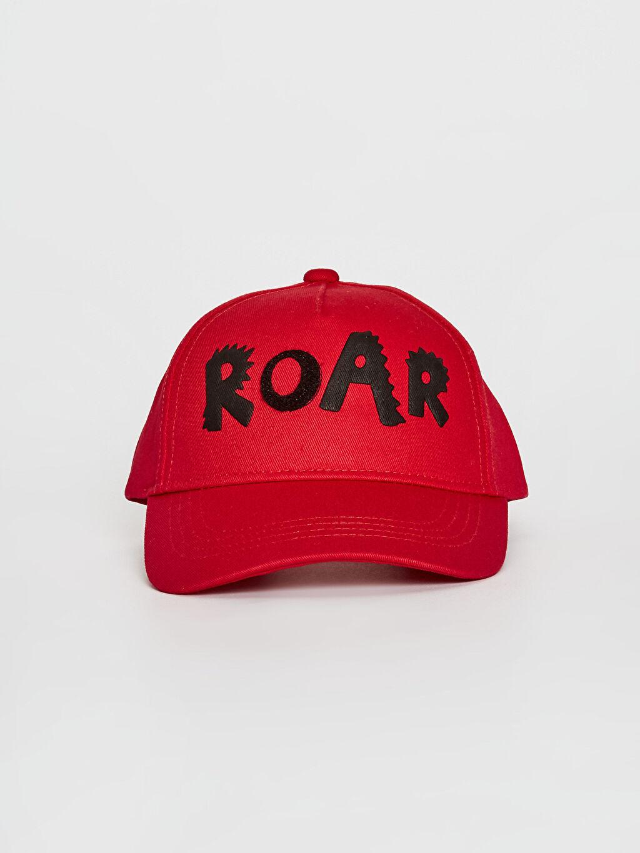 %100 Pamuk  Erkek Çocuk Baskı Detaylı Şapka