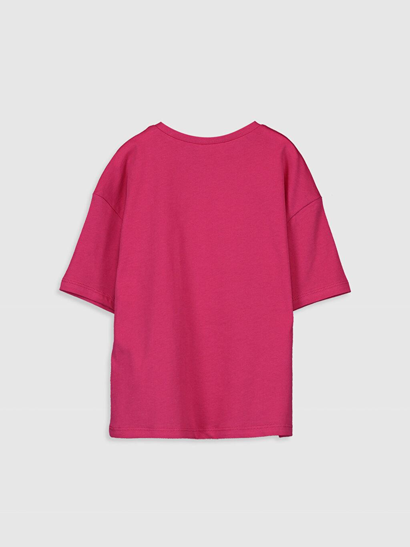 %100 Pamuk Standart Baskılı Tişört Bisiklet Yaka Kız Çocuk Pamuklu Tişört
