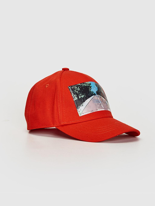 Turuncu Erkek Çocuk Baskı Detaylı Şapka 0S7673Z4 LC Waikiki