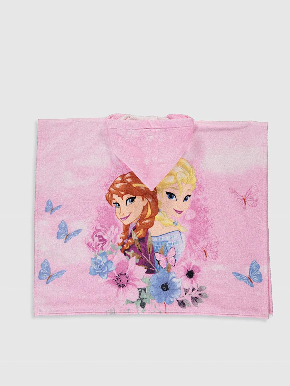 %100 Pamuk  Kız Çocuk Frozen Lisanslı Kadife Panço Havlu