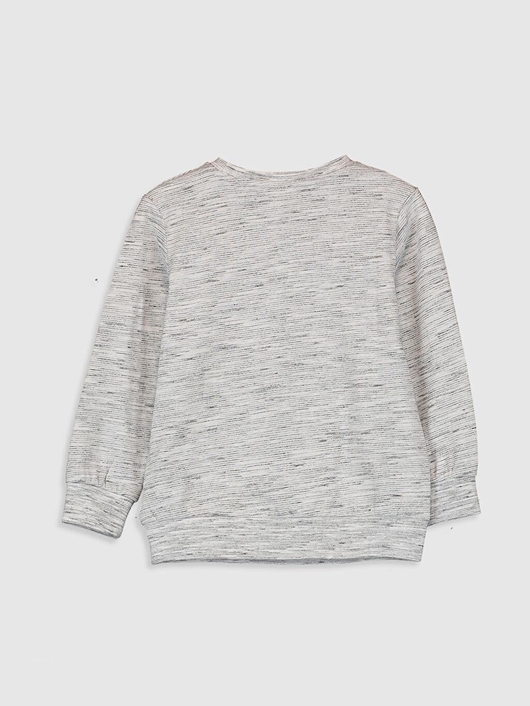 %95 Pamuk %5 Polyester Baskılı Normal Bisiklet Yaka Tişört Uzun Kol Erkek Çocuk Baskılı Pamuklu Tişört