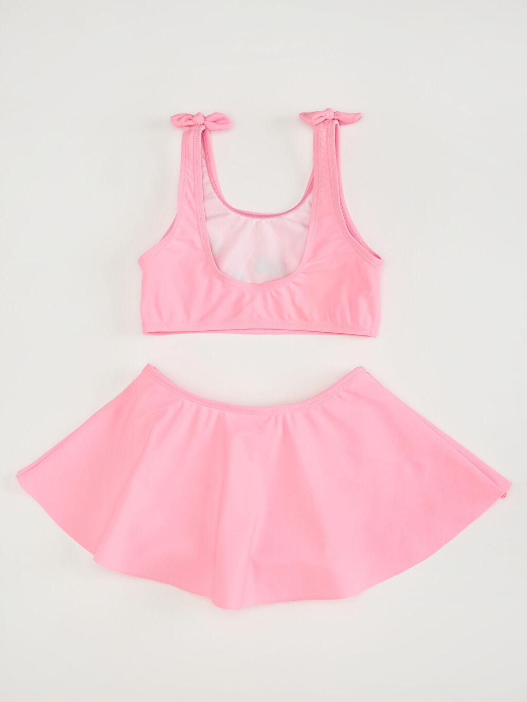 %82 Poliamid %18 Elastan %100 Polyester  Kız Çocuk Etekli Bikini