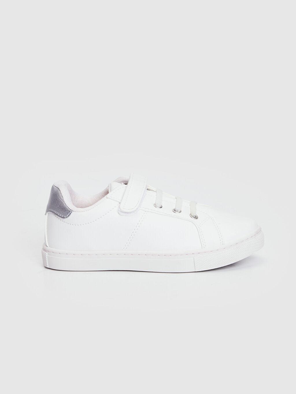Beyaz Kız Çocuk 25-30 Numara Cırt Cırtlı Günlük Ayakkabı 0S7814Z4 LC Waikiki