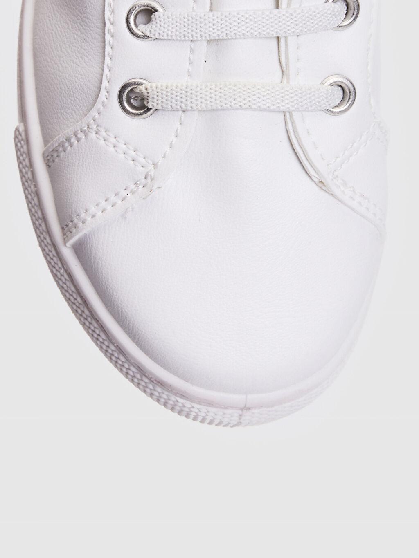 LC Waikiki Beyaz Kız Çocuk 25-30 Numara Cırt Cırtlı Günlük Ayakkabı