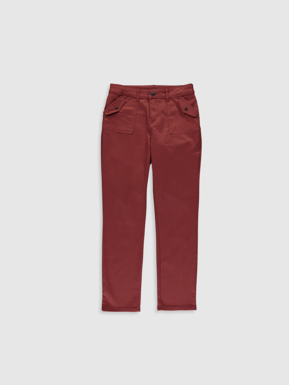 Kırmızı Kız Çocuk Gabardin Pantolon 0S7839Z4 LC Waikiki