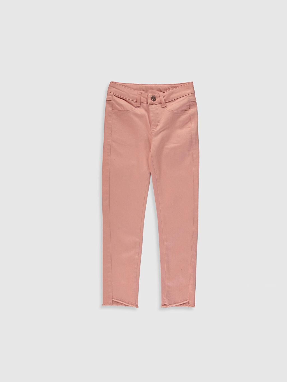 Pembe Kız Çocuk Slim Gabardin Pantolon 0S7845Z4 LC Waikiki