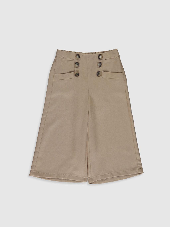 Bej Kız Çocuk Gabardin Pantolon 0S7867Z4 LC Waikiki