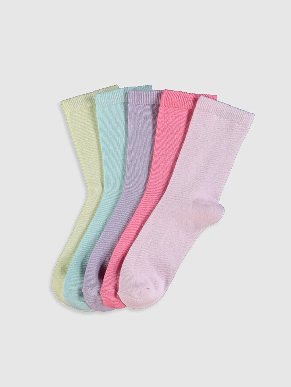Pembe Kız Çocuk Soket Çorap 5'li 0S7880Z4 LC Waikiki