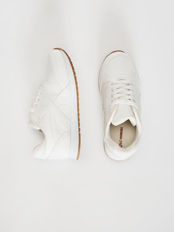 %0 Diğer malzeme (pvc)  Kız Çocuk Bağcıklı Günlük Ayakkabı