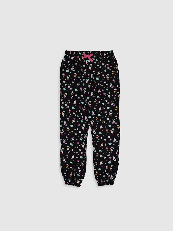 Siyah Kız Çocuk Viskon Jogger Pantolon 0S8260Z4 LC Waikiki