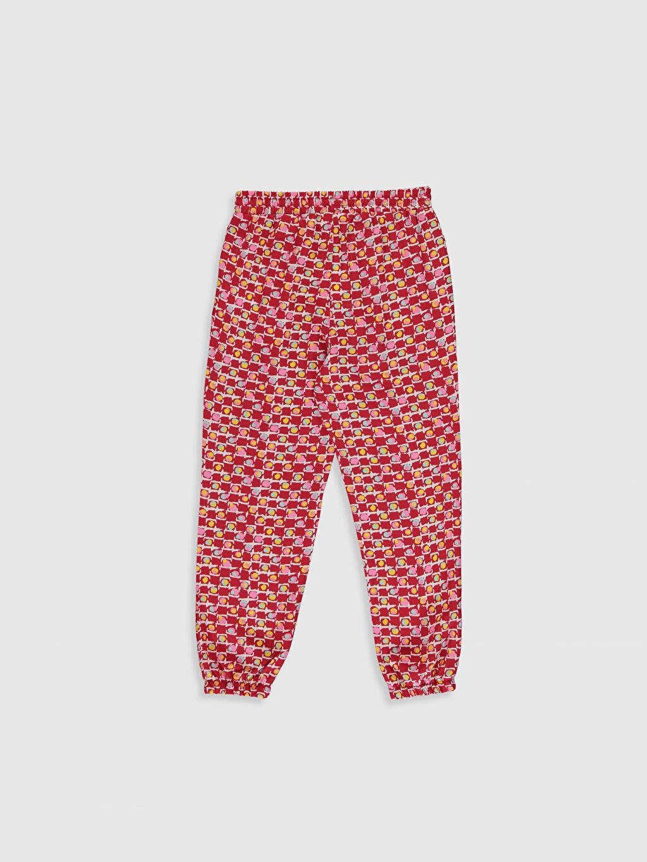 %100 Viskoz Standart Normal Bel Kız Çocuk Viskon Jogger Pantolon