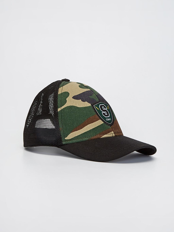 Haki Erkek Çocuk Kamuflaj Baskılı File Şapka 0S8360Z4 LC Waikiki