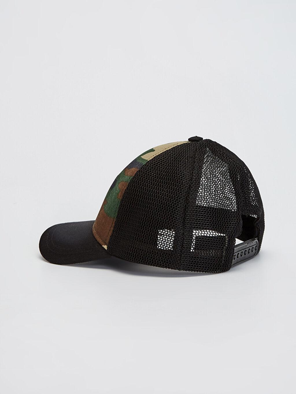 Erkek Çocuk Erkek Çocuk Kamuflaj Baskılı File Şapka