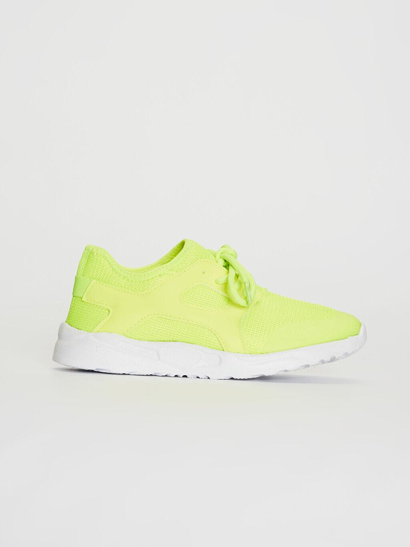 Yeşil Kız Çocuk Bağcıklı Aktif Spor Ayakkabı 0S8785Z4 LC Waikiki