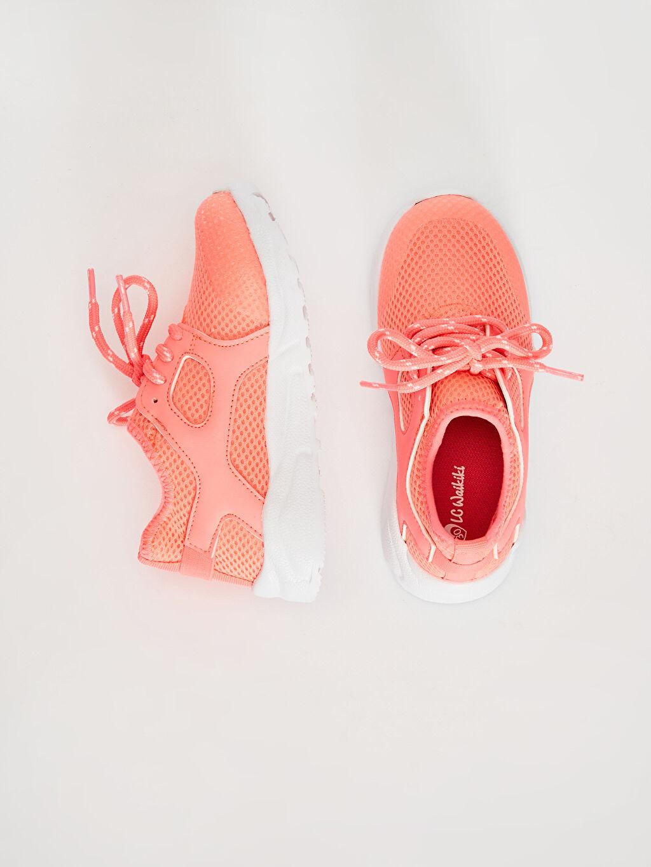 %0 Diğer malzeme (poliüretan) %0 Tekstil malzemeleri (%100 poliester)  Kız Çocuk Bağcıklı Aktif Spor Ayakkabı