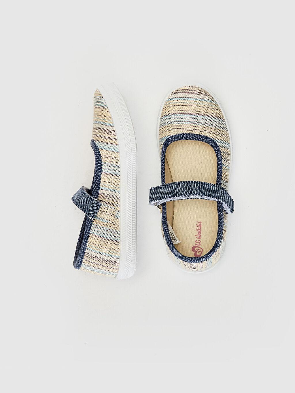 %0 Tekstil malzemeleri (%35 pamuk,%45 poliester,%7 metalik elyaf,%13 viskoz)  Kız Çocuk Babet Ayakkabı