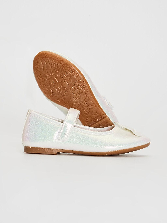 Kız Çocuk Kız Çocuk Parlak Görünümlü Babet Ayakkabı