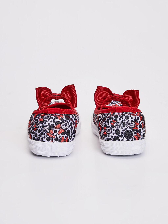 Kız Çocuk Minnie Mouse Baskılı Babet Ayakkabı