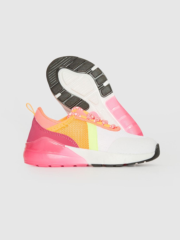 Kız Çocuk Kız Çocuk Kalın Taban Renk Bloklu Spor Ayakkabı