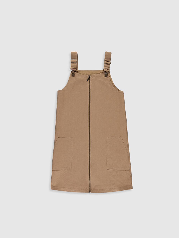 Bej Diz Üstü Düz Elbise 0S8844Z4 LC Waikiki
