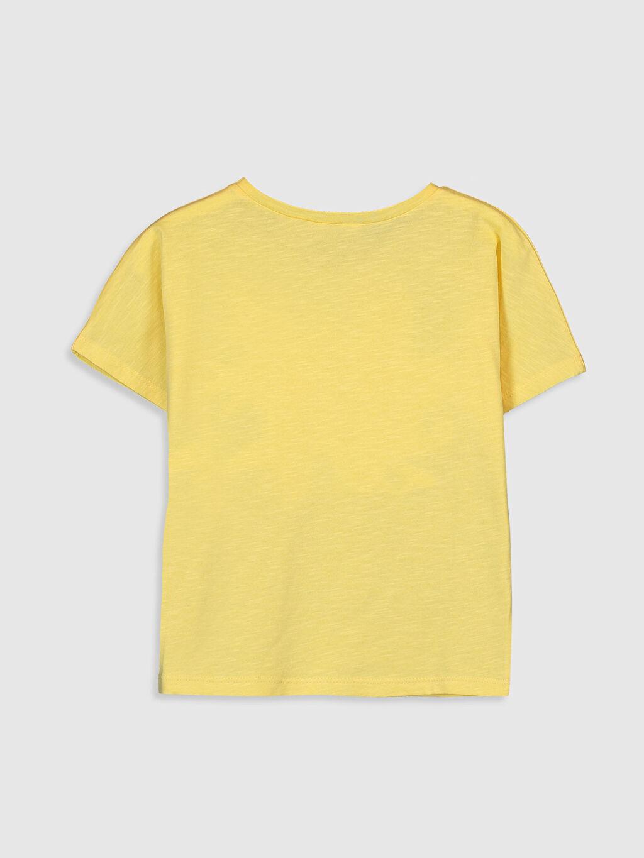 %100 Pamuk Baskılı Standart Kısa Kol Tişört Bisiklet Yaka Kız Çocuk Pembe Panter Baskılı Pamuklu Tişört