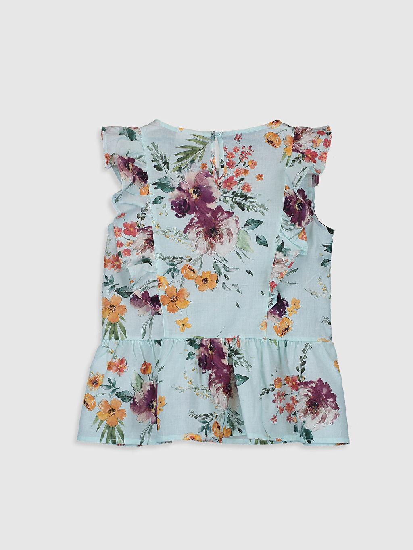 %100 Pamuk Standart Desenli Kolsuz Bluz Kız Çocuk Çiçekli Pamuklu Bluz