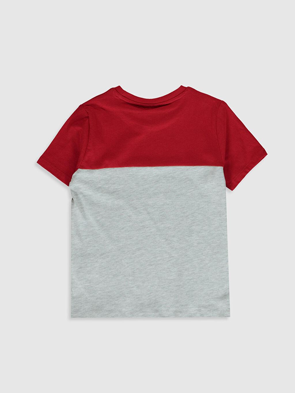 %100 Pamuk Normal Baskılı Tişört Bisiklet Yaka Kısa Kol Erkek Çocuk Yazı Baskılı Basic Tişört