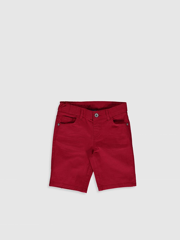 Kırmızı Erkek Çocuk Gabardin Bermuda 0S9263Z4 LC Waikiki