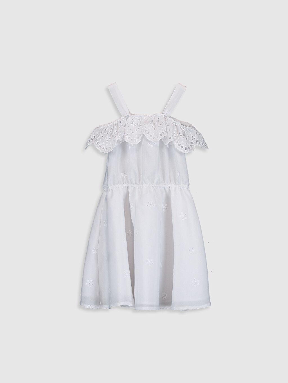 %41 Pamuk %59 Polyester %100 Pamuk Diz Üstü Düz Kız Çocuk Fisto Detaylı Elbise