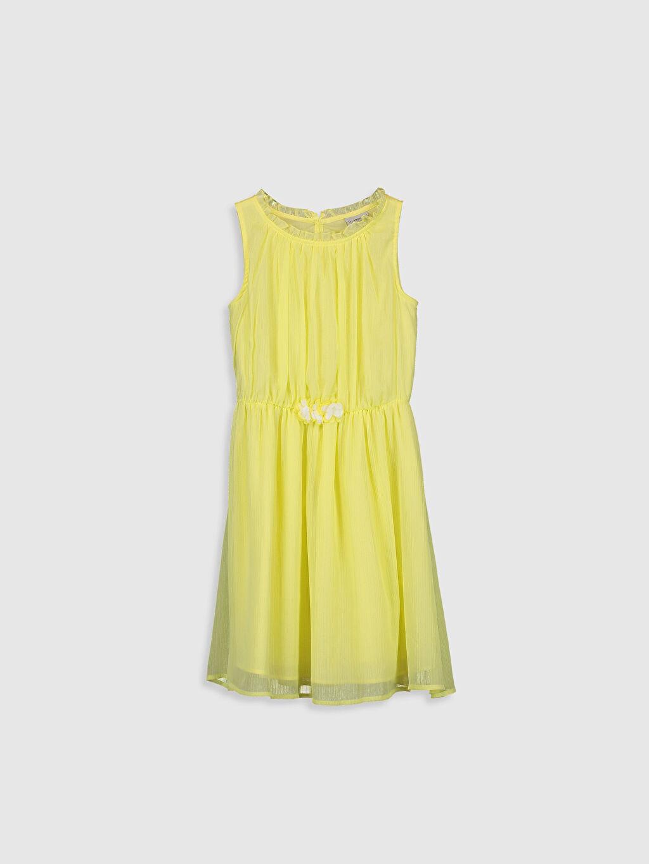 Sarı Kız Çocuk Şifon Elbise 0S9287Z4 LC Waikiki