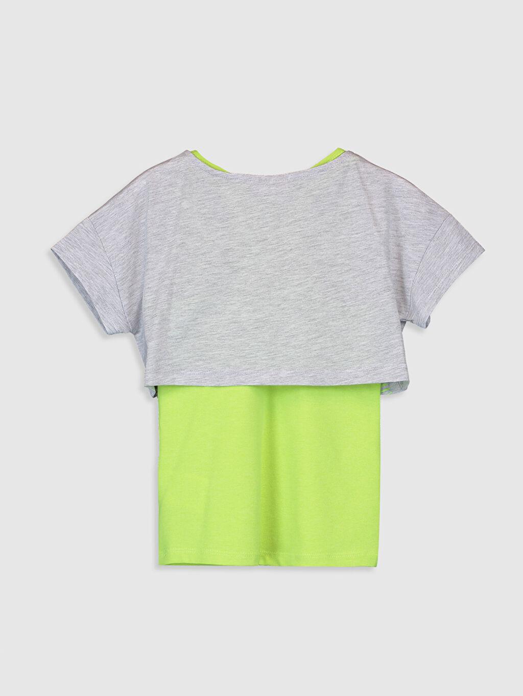 %60 Pamuk %40 Polyester Standart Baskılı Tişört Bisiklet Yaka Kısa Kol Kız Çocuk Baskılı Tişört ve Atlet