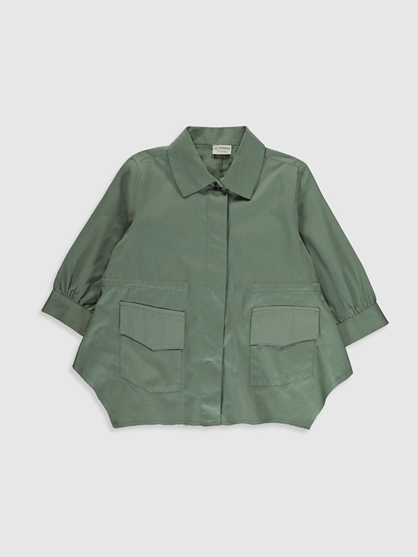Yeşil Kız Çocuk Pamuklu Ceket 0S9519Z4 LC Waikiki