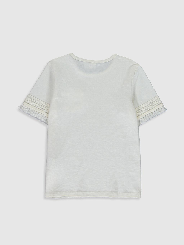 %100 Pamuk Standart Düz Tişört Bisiklet Yaka Kısa Kol Kız Çocuk Pamuklu Basic Tişört