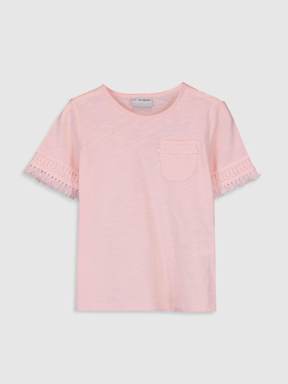 Pembe Kız Çocuk Pamuklu Basic Tişört 0S9525Z4 LC Waikiki