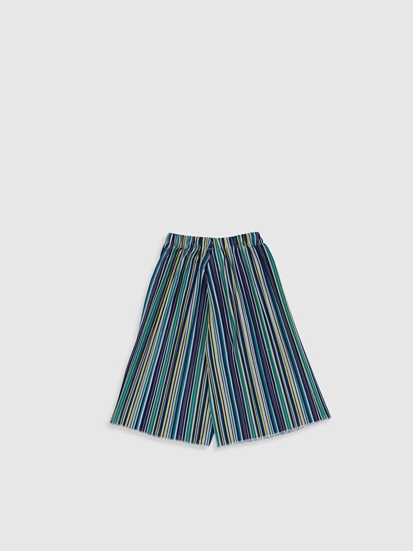 %100 Polyester Normal Bel Standart Kız Çocuk Pileli Pantolon