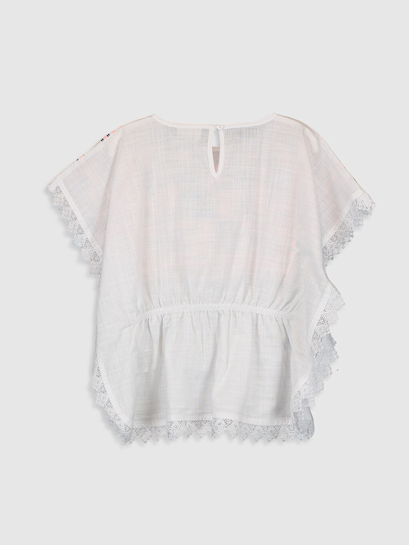 %100 Pamuk Standart Desenli Kısa Kol Bluz Kız Çocuk Desenli Pamuklu Bluz