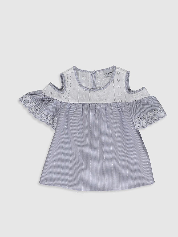 Mavi Kız Çocuk Omuzu Açık Bluz 0S9607Z4 LC Waikiki