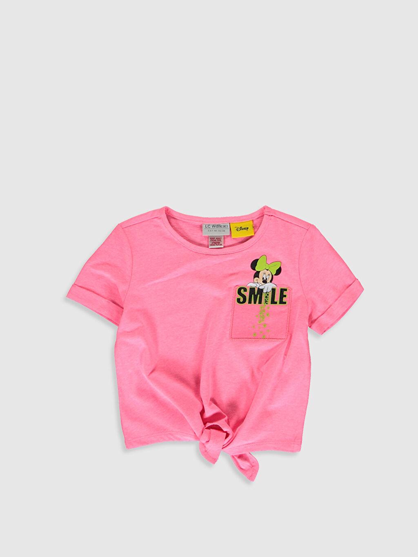 Pembe Kız Çocuk Minnie Mouse Baskılı Tişört 0S9623Z4 LC Waikiki