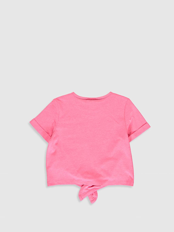 %52 Pamuk %48 Polyester Baskılı Standart Kısa Kol Tişört Bisiklet Yaka Kız Çocuk Minnie Mouse Baskılı Tişört