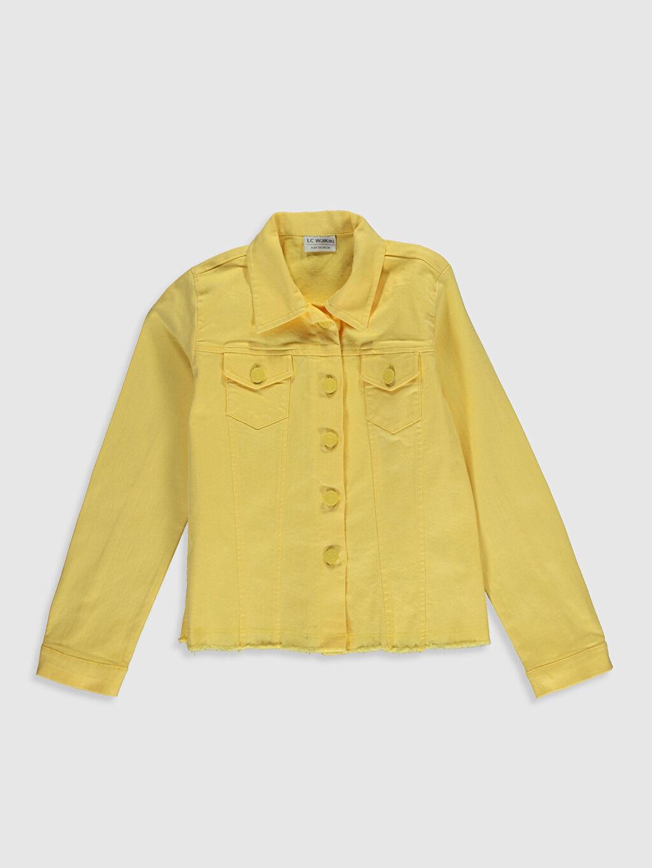 Sarı Kız Çocuk Pamuklu Ceket 0S9715Z4 LC Waikiki