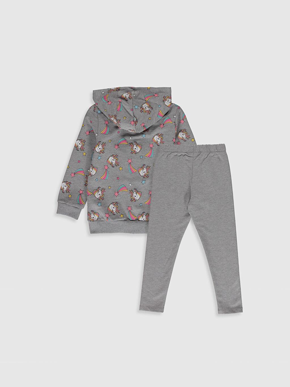 %50 Pamuk %50 Polyester %48 Pamuk %47 Polyester %5 Elastan  Kız Çocuk Sweatshirt ve Tayt