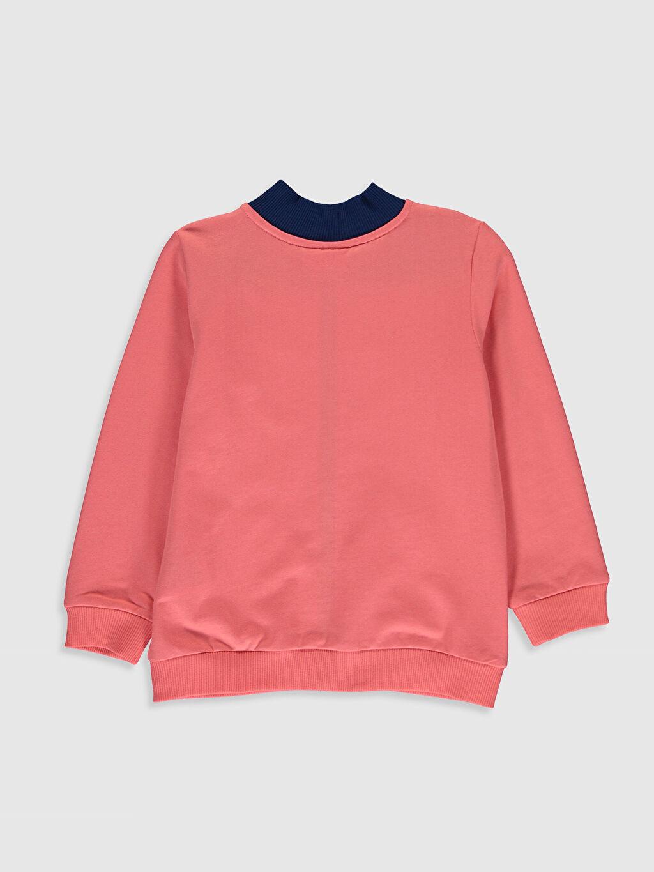 %81 Pamuk %19 Poliester  Kız Çocuk Fermuarlı Sweatshirt