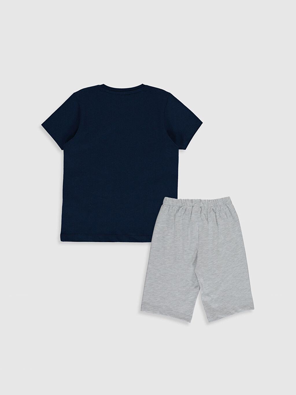 %49 Pamuk %51 Polyester Standart Pijamalar Erkek Çocuk Baskılı Pijama Takımı
